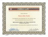 Family Law Trial Institute MAY 2011